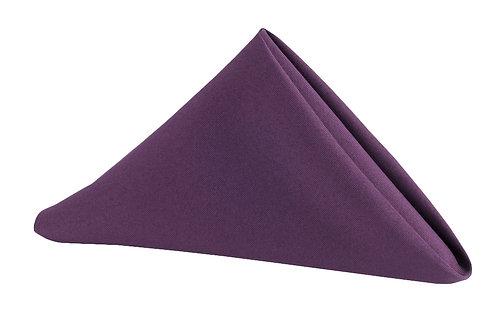 plum polyester napkins 20x20