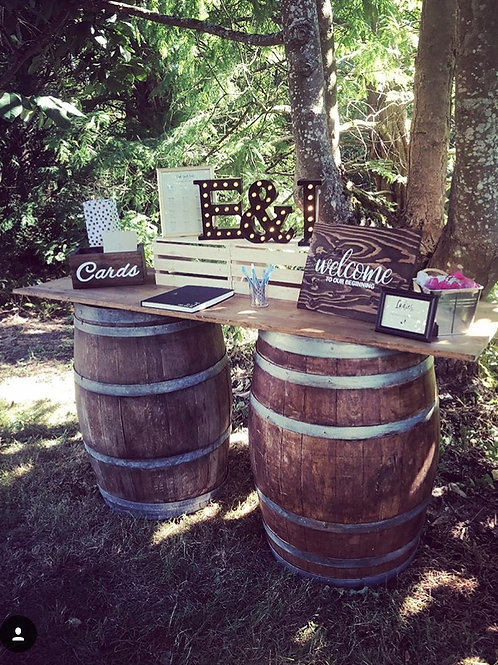 wine barrels & tabletop
