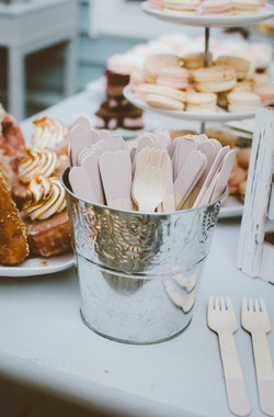 wood dipped forks, spoons or knives