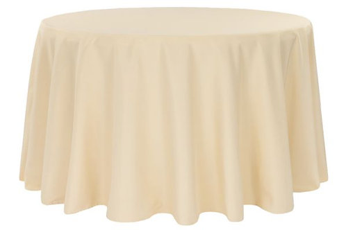 "Champagne 120"" polyester tablecloths"