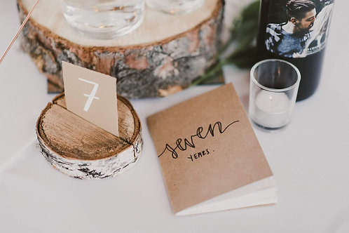 Wood round table numbers