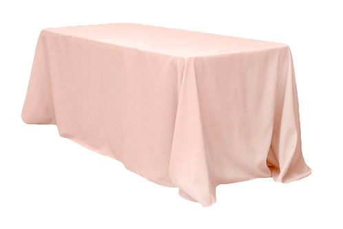 "Blush 90x132"" polyester tablecloth"