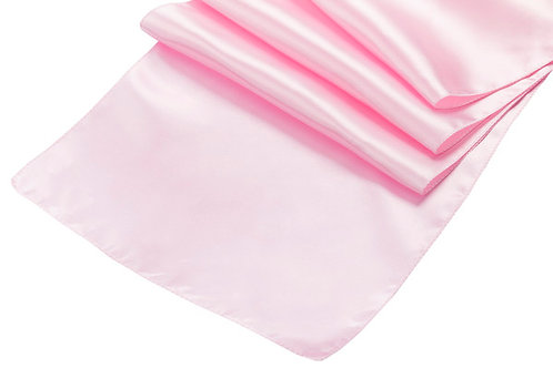 pink satin runner