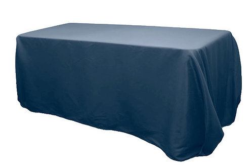 navy 90x132 polyester tablecloth