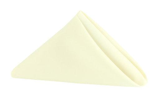 ivory polyester napkin 20x20