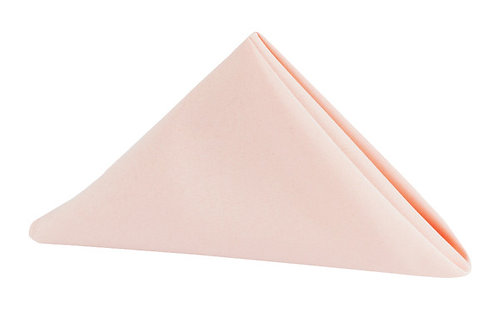 blush polyester napkins 20x20
