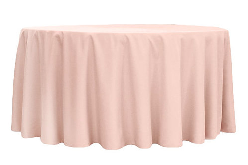 blush 120' tablecloths