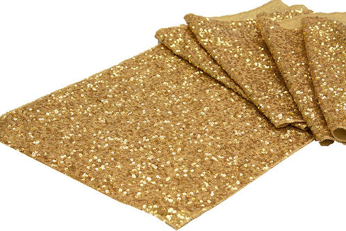gold sequin runner