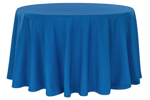 "Royal blue 120"" polyester tablecloth"