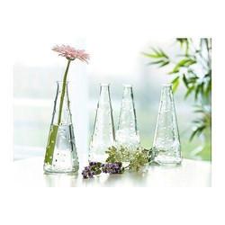 small glass dot vases