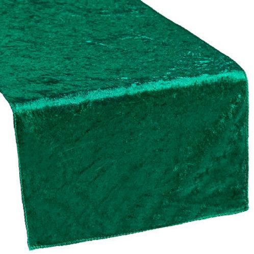 Emerald velvet runners