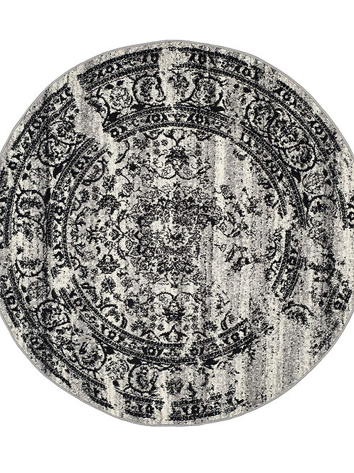 6 ft Round vintage rug