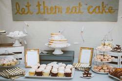 white ruffled cake stand