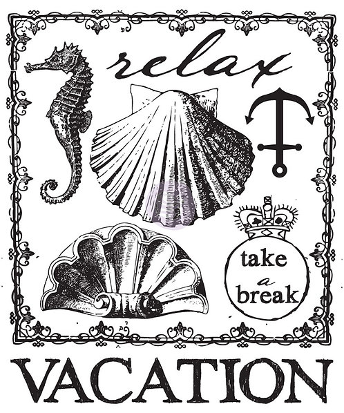 Clear Mini-Stamp: Beach Vacation
