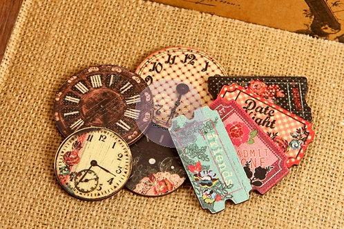 Printed Wood-   Clocks & Tickets