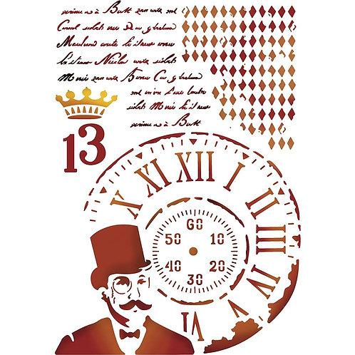 Steampunk Man - Stamperia Stencil