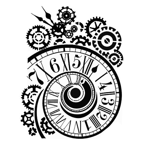 Clock & Mechanisms - Stamperia Stencil