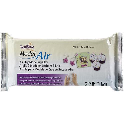 Polyform Air Dry Clay- White