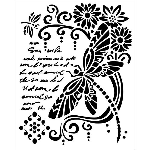 Dragonfly - Stamperia Stencil