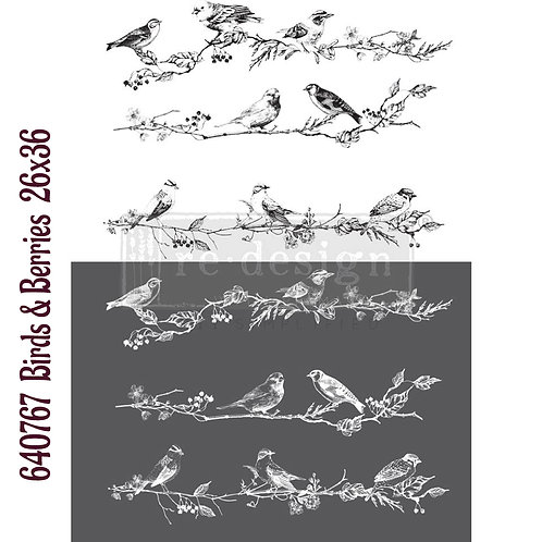 Birds & Berries   -Prima Transfer