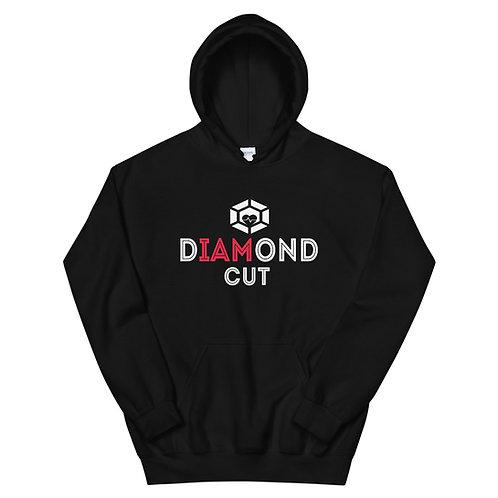 Red I AM Diamond Cut Hoodie