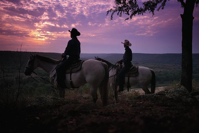 Horseback Sunset