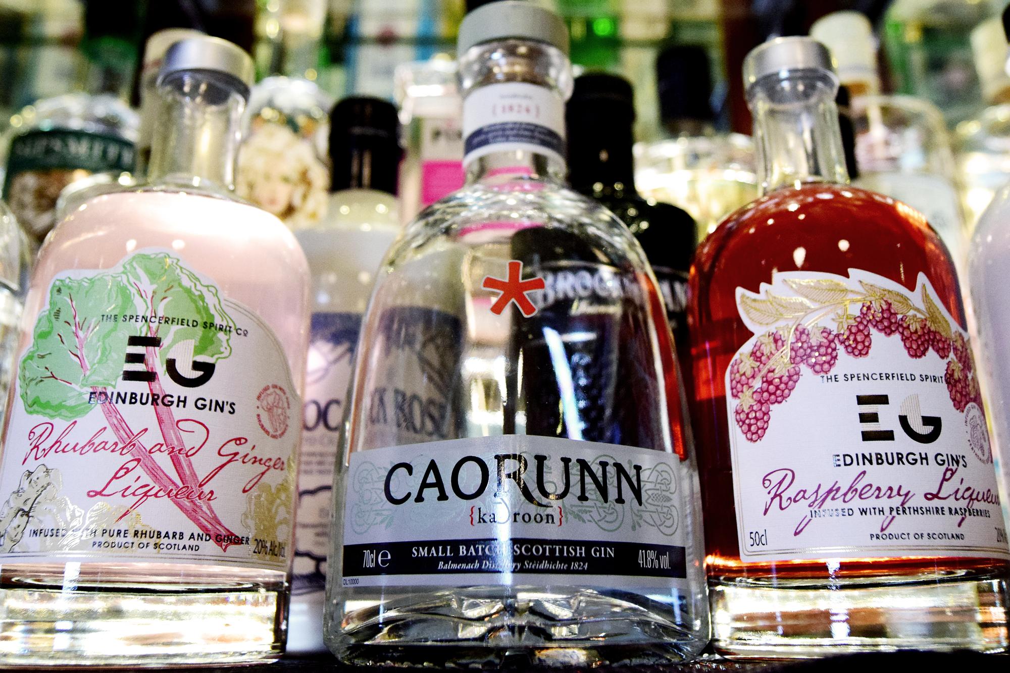 Heraghty's Bar Scottish Gin selectio