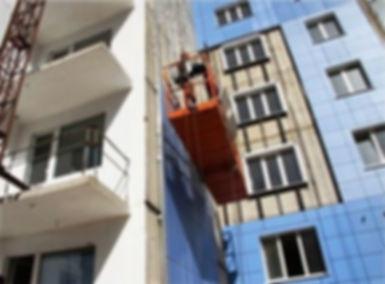 Фасад из СМЛ, фасады Калининград, стекломагнивый лист Калининград, алюминиевый профил Калининрад