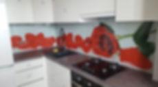 Фартук для кухни стеклянный