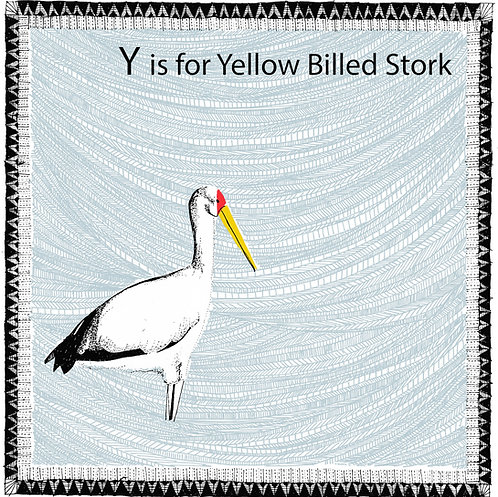 Y is for Yellow Billed Stork