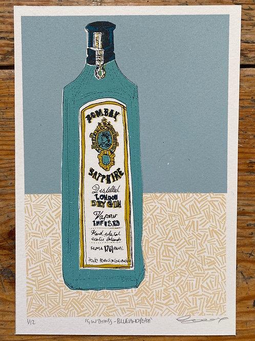 Gin Things - Blue and Peach