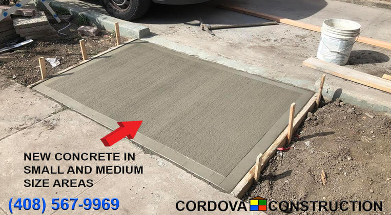 Concrete in small and medium areas