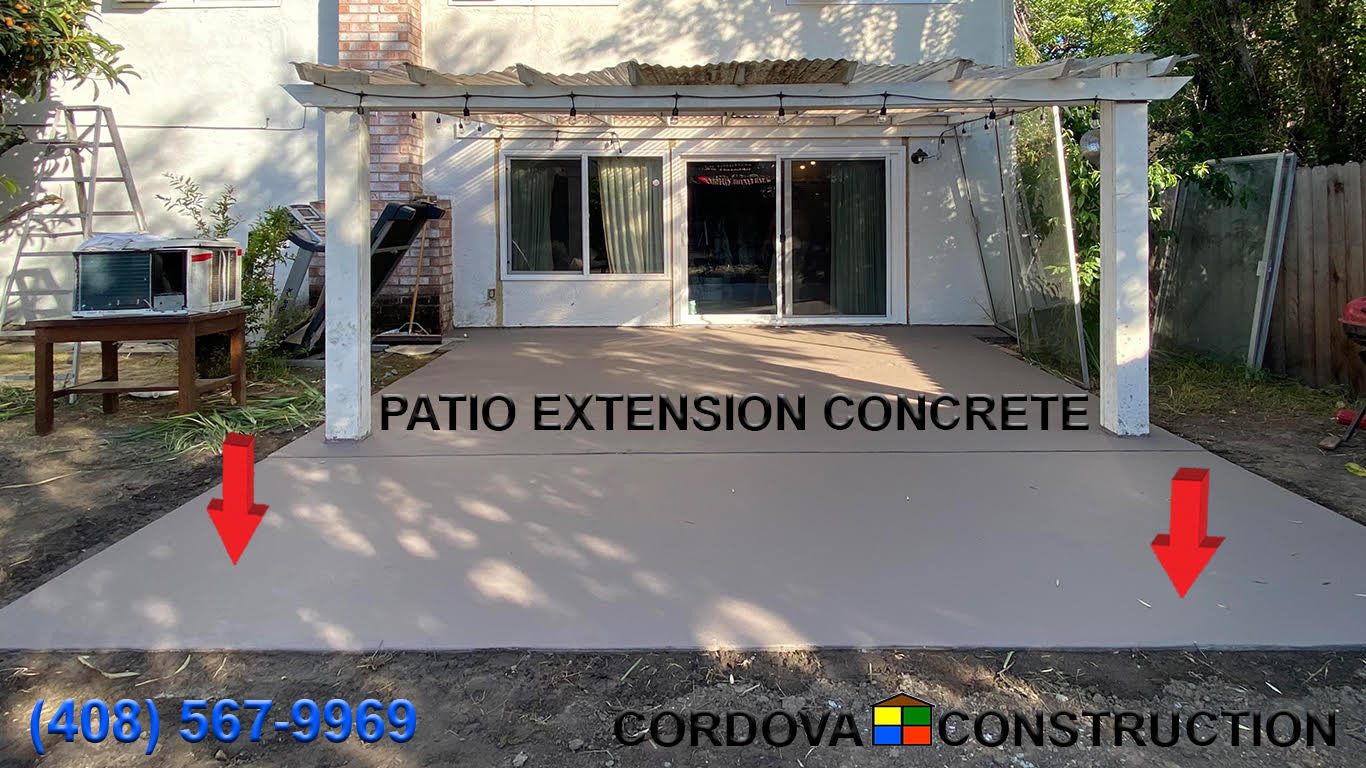 Patio Extension Concrete