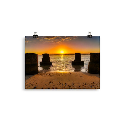 Poster Sunset L'Hermitage