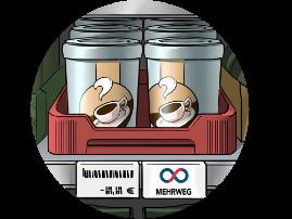 modular packaging solution shelf in secondary