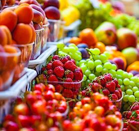 Fresh market produce at an outdoor farme