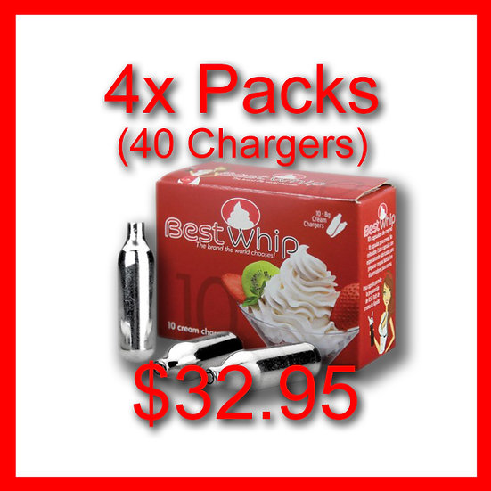 4x Packs (40) Cream Chargers