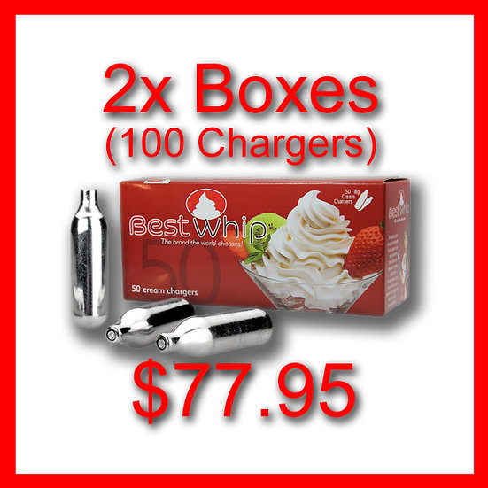 2x Boxes (100) Cream Chargers