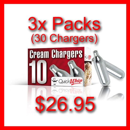 3x Packs (30) Cream Chargers