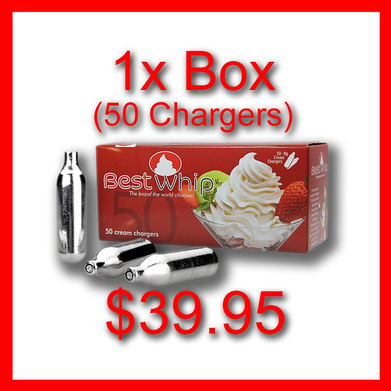 1x Box (50) Cream Chargers