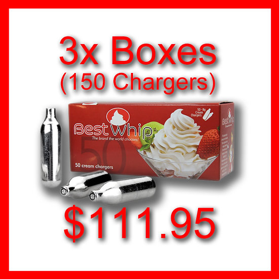 3x Boxes (150) Cream Chargers