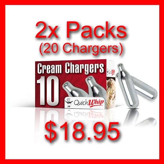 2x Packs (20) Cream Chargers