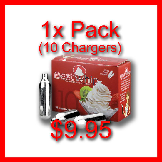 1x Pack (10) Cream Chargers