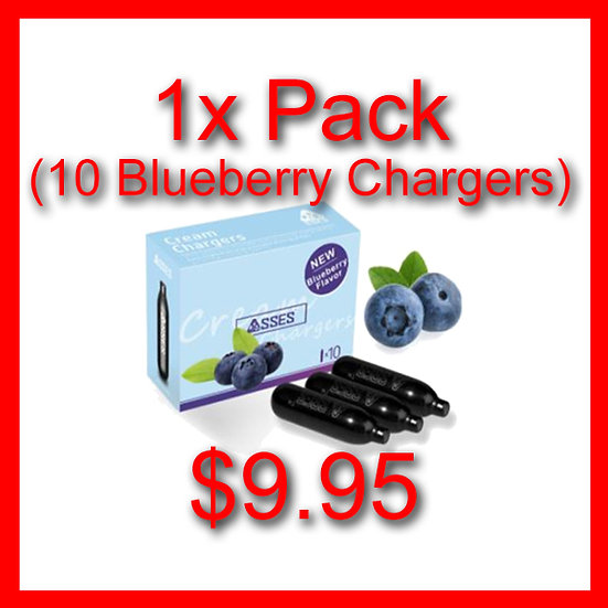 1x Pack (10) Blueberry Flavoured Cream Chargers