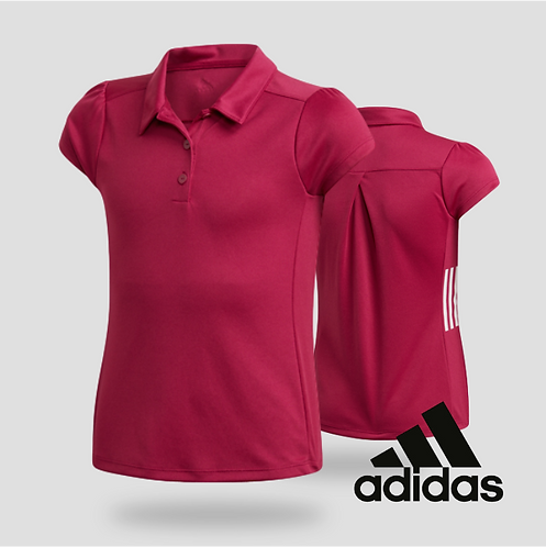 Adidas Girls Short Sleeve Polo Powber (JR)
