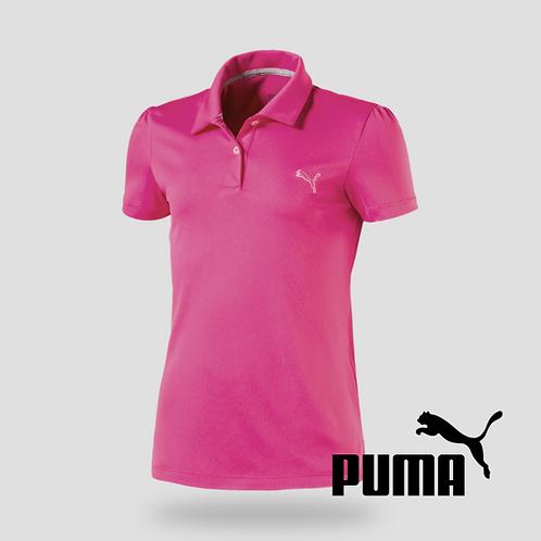 Girls Pounce Polo Shocking Pink (JR)