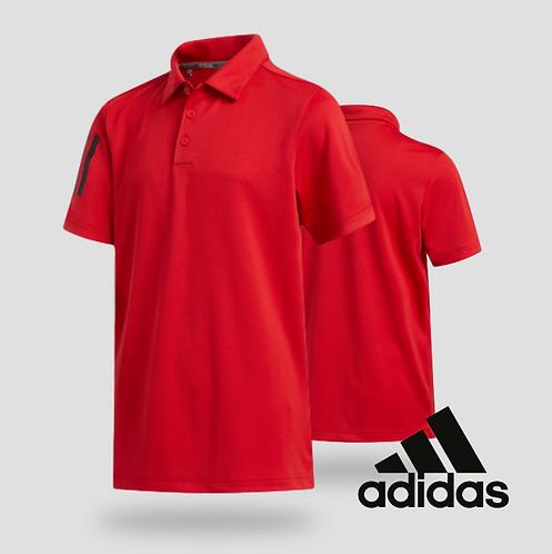 Adidas Boys 3-Stripe Polo Red (JR)