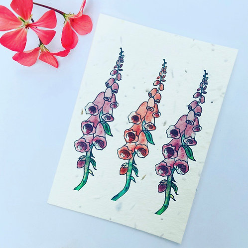 Plantable Seed Card - Foxgloves