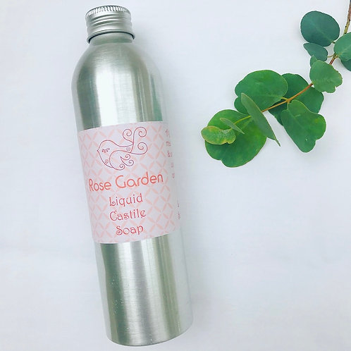 Liquid Castile Soap - Rose Garden