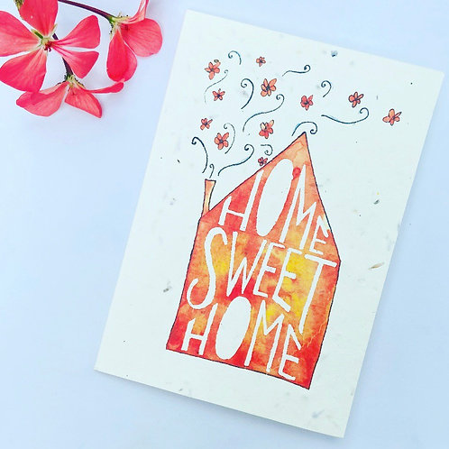 Plantable Seed Card - Home Sweet Home